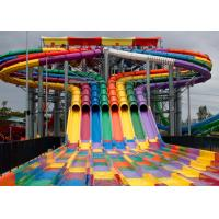 Wholesale Holiday Village Amusement Big Long Pool Slide Water Park Playground 22 Meters High from china suppliers
