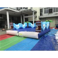 Double Inflatable Sports Games / Inflatable Surf Simulator With Mattress Mechanical Surfboard