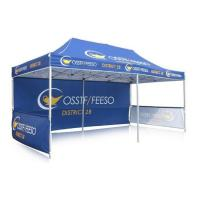 Advertising Pop Up Canopy Tent With Sides , Customized Instant Gazebo Marquee Tent