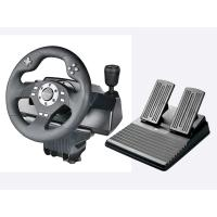 Wholesale Car Video Game Steering Wheel Controller Dual Vibra ABS Material For P3 / P2 / PC from china suppliers