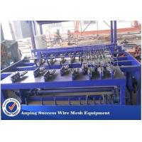 China Hot Dipped Galvanized Wire Grassland Fence Machine Blue Color Easy Operation on sale