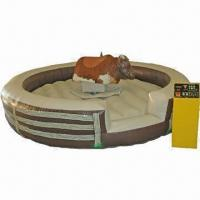 Wholesale Inflatable Mechanical Bull, Measures 5 x 1m, Made of 0.55 Plato PVC, Safe and Durable from china suppliers