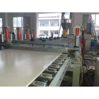 Buy cheap Solid WPC PVC Foam Board Extrusion Line Flame Retardant Stable Output High from wholesalers