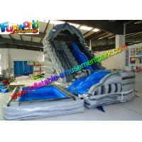 China Kids Inflatable Inflatable Corkscrew Water Slide Yellow For Business on sale