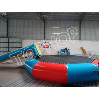 Wholesale Customized 0.9MM PVC Tarpaulin Inflatable Water Trampoline With Water Slider from china suppliers