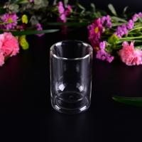 Wholesale Popular 85ml Double Wall Borosilicate Glass Tea Cup Bottom dia 5.2cm from china suppliers