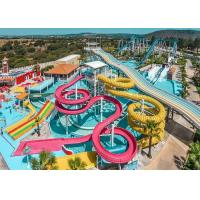 Quality Colorful Fiberglass Swimming Pool Water Slides Durable Playground Equipment for sale