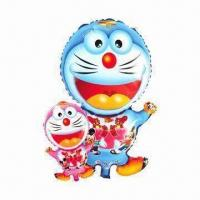 Buy cheap Cartoon Toy Balloon, Doraemon Shape, Measured 78 x 45cm ,Two Sides Printing from wholesalers