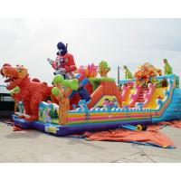 Wholesale Cheap Kids Big Dinosaur Playground Giant Inflatable Bouncer Castle House With Slide For Children Sale from china suppliers