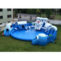 Wholesale Snow N ice world giant inflatable water park on land with big inflatable pool for kids N adults from china suppliers