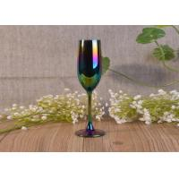 Quality 6Oz Ion Electroplated Glass Champagne Stemware Wine Glasses For Candle Making for sale