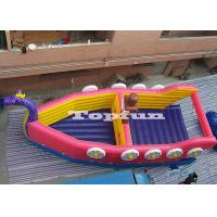 Wholesale Double Stitch Inflatable Dragon Boat , Custom Reinforced Inflatable Bouncy Barque from china suppliers