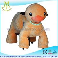 Wholesale Hansel happy rider toys on wheel battery animal ride plush motorized animals from china suppliers