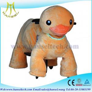 Wholesale Hansel kid plush toy bike animation guangzhou motorized plush riding animals from china suppliers