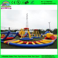 outdoor inflatable water trampoline with slide for sale/ Inflatable Aqua Park/