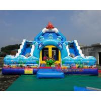 China Inflatable Jumping Bouncer Castle Slide Inflatable Bounce House With Slide on sale