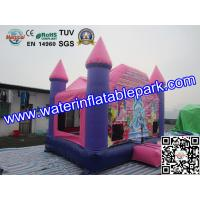 China Pink Princess Inflatable Bouncy Castle , Park Inflatable Castle on sale