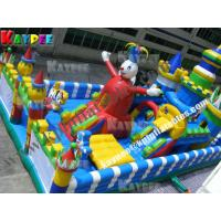 Wholesale Inflatable clown funcity ,inflatable playland,crazy fun part with slide KFT013 from china suppliers