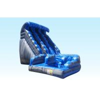 China Outdoor Big Curvy Adult / Kids Commercial Inflatable Slide For Festival on sale