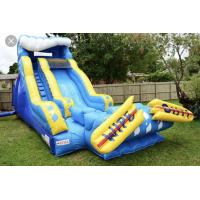 Big giant clearance long wipeout inflatable slide for sale