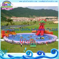 Wholesale Inflatable Aqua Park , Above Ground Portable Water Park Infltable Slide with Pool from china suppliers
