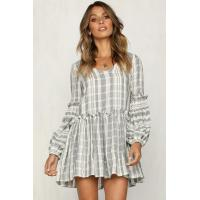 Quality Women Clothing 2018 Long Sleeve Cotton Summer Casual Dresses for sale
