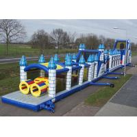 Wholesale Awesome 46.5m Length Inflatable Obstacle Course Amazing With PVC Tarpaulin from china suppliers