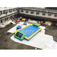 Wholesale Door Close To Door Outdoor Inflatable Soap Football Arena , Inflatable Water Football Pitch With Bottom from china suppliers