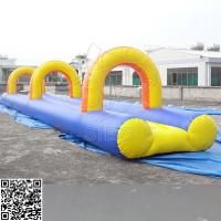 Quality 0.55mm Large - Scale Kids Inflatable Water Slide With Pool Customized Size for sale
