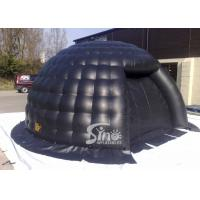 China small black bubble inflatable igloo tent with removable door made of best pvc tarpaulin on sale