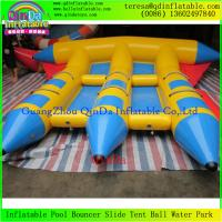 Wholesale Professional Inflatable Fly Fish Boat Small Fly Fishing Banana Boats fFr Water Park Games from china suppliers