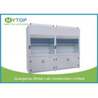 China 4ft Lab Polypropylene Fume Hood For Strong Acid And Alkali Testing Exhausting System on sale