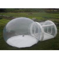 Wholesale Inflatable Transparent Bubble Tent With Tunnel  0.6mm PVC Clear Bubble Tent from china suppliers