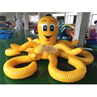 Customized Yellow Octopus Inflatable Pool Floats For Aqua Water Park