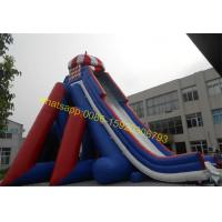 Wholesale giant blue and red colours water slide from china suppliers