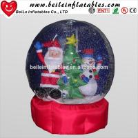China Large snow globes and Transparent inflatable Christmas snow globes and advertising human inflatable on sale