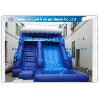 Wholesale Blue Large Wet Inflatable Water Slide Into Pool For Water Amusement / Garden from china suppliers