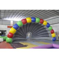 Quality Rainbow Inflatable Tent , Colorful PVC Inflatable Stage Tent For Festival for sale