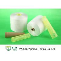 Quality Anti - Pilling Spun Polyester Yarn Bright Virgin 100% Polyester Yarn 42s/2 For for sale