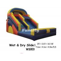 Wholesale Safety Outdoor Playing Inflatable Wet And Dry Slide With Wide Bouncer Board from china suppliers
