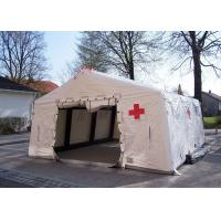 China Removeble Air Tight Army Inflatable Medical Tent 0.65mm PVC Tarpaulin on sale