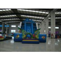 China Funny Sea Theme Giant Inflatable Water Slide , Kids Inflatable Water Slide 11 X 5.5 X 7m on sale