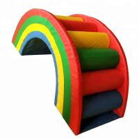 Wholesale Rainbow Style Indoor Soft Play Equipment , Colorful Commercial Play Equipment from china suppliers