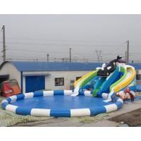Best price summer fun kids games killer whale design inflatable water park with free air blower