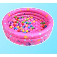 Dots Printed Inflatable Park Pools , Blow Up Swimming Pools With 3 Rings Circle