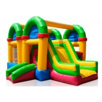 Wholesale Three In One Childrens Bouncy Castle , Kids Jumping Castle With Rush Slides from china suppliers