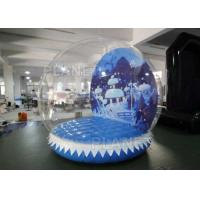 Quality 0.6mm PVC Tarpaulin Inflatable Christmas Snow Globes 3m Hot Air Welding for sale