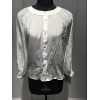 Quality Casual White Crew Neck Blouse , Women'S Summer Blouses / Shirt BGW001 for sale