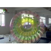 China Custom Rainbow Inflatable Water Toy / Roller PVC / TPU 2.4m x 2.8m Heat Sealed on sale