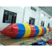 Wholesale Commercial Grade Colorful 0.6mm PVC Tarpaulin Inflatable Water Blob Jumping Pillow for water tower from china suppliers
